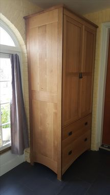 Custom Made Quartersawn Oak Armoire