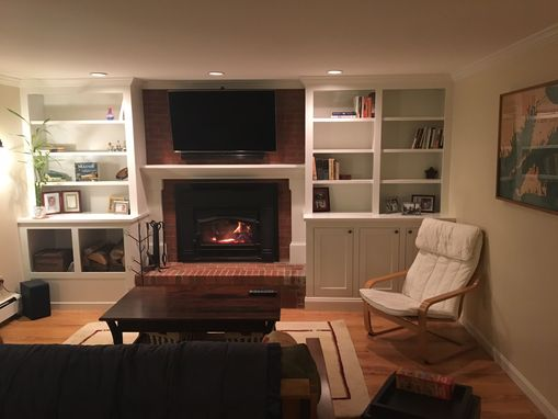 Custom Made Built-In Fireplace Surround Cabinety