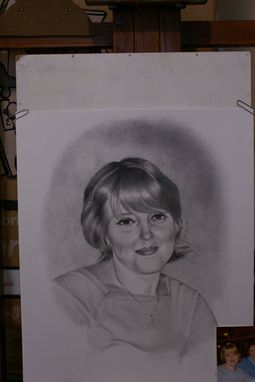 Custom Made Portrait Graphite Hand Drawn Custom Woman, Mother, Wife