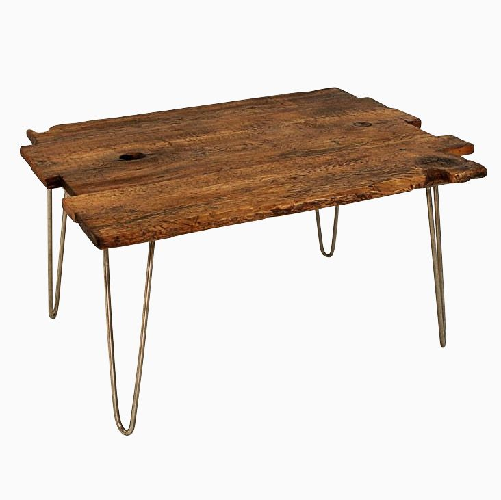 Buy Hand Made Antique Oak Coffee Table With Hairpin Legs