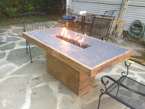 Handmade Concrete Fire Table By Murrcrete Designs