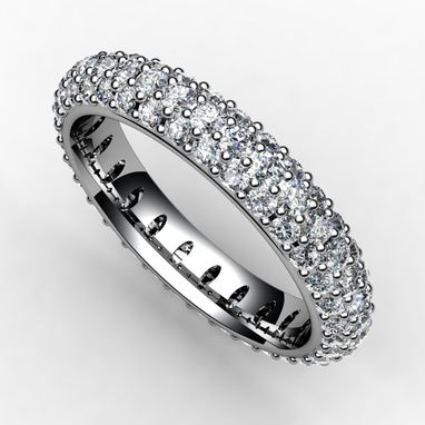 Custom Made Smooth As Silk Pave Set Eternity Bands