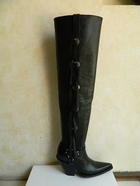Custom Made Fringe Cowboy Boots 18 Tall Made To Order Sharp, Round Or Square Toe Any Size