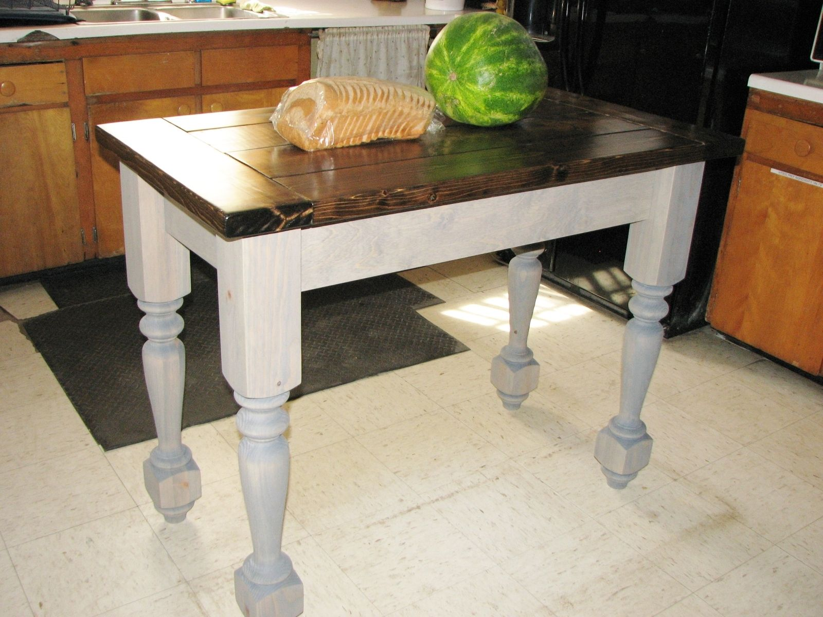 Buy A Custom Turned Legs Kitchen Island Made To Order From Custom - Cheap kitchen islands for sale
