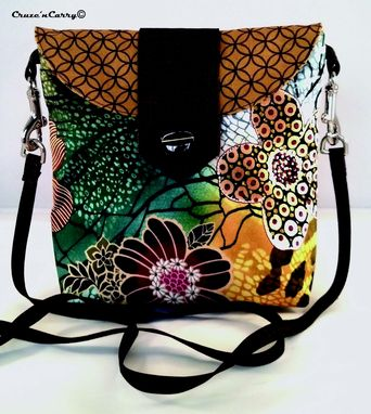 Custom Made Brown Floral Handbag