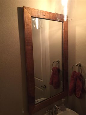 Custom Made Mirror From Reclaimed Wood