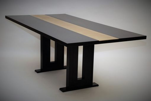 Custom Made Black Maple Dining Table