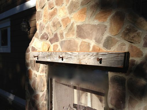 Custom Made Reclaimed Wood Fireplace Mantle