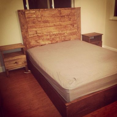 Custom Made Rustic Style Platform Bed / Headboard
