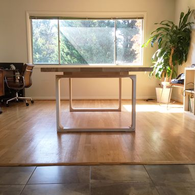 Custom Made Minimalist Modern Dining Table In Maple