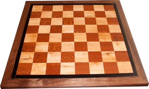 Custom Made Custom Rotating Exotic Wood Chess/Backgamon Table