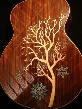"Custom Made Blueberry ""Winter"" Acoustic Guitar"
