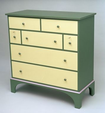 Custom Made Shaker Dresser W/ Seven Drawers - Painted