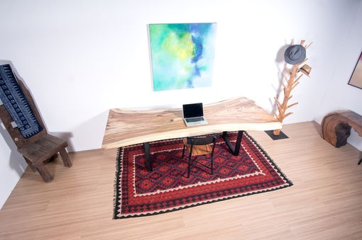 Custom Made Live Edge Wood Dining Table Or Home Office Desk