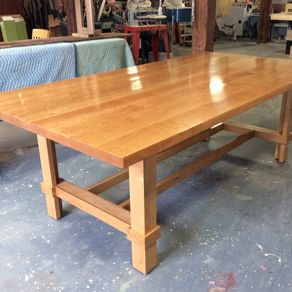 cherry dining or conference table custommade by vincent lafazia - Mission Style Dining Table