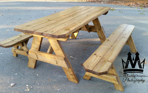 Custom Made Picnic Tables Outdoor Seating!