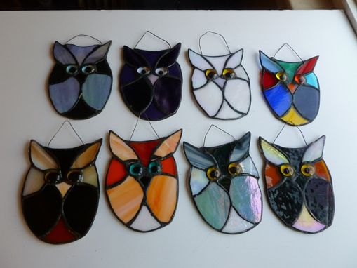 Custom Made Adorable Multicolored Stained Glass Owl