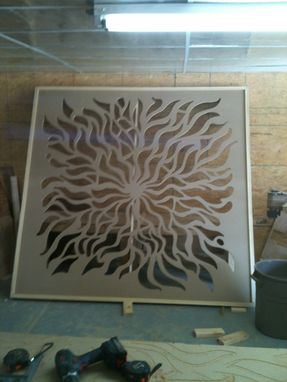 Custom Made Room Partition - Grille Panel - Large Artistic Wall Hanging
