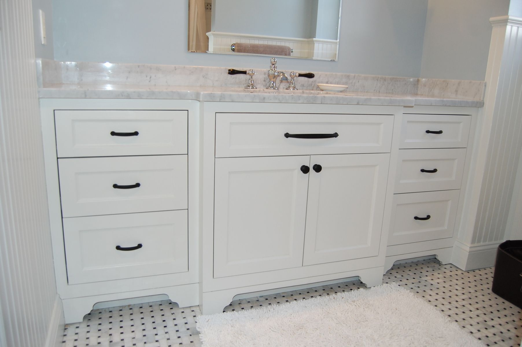 Custom Made Wide Single Bathroom Vanity