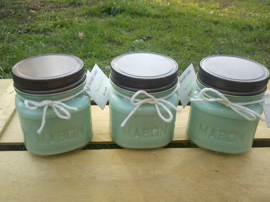 Hand Crafted 8oz Soy Candles In Mason Jars By Starlight