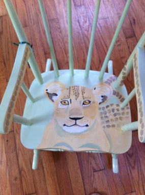 Custom Made Lion Cub Rocking Chair