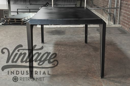 Custom Made Vintage Industrial Bevel Table