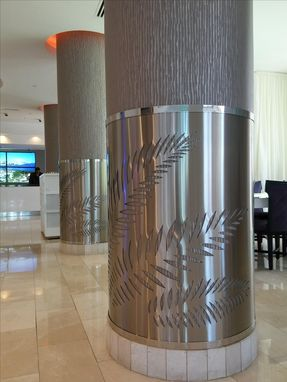 Custom Made Series Of 3 Stainless Steel Column Guards For Yve Hotel In Downtown Miami