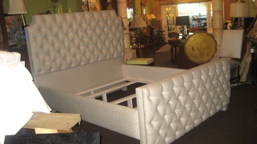 Custom Made Upholstered Tufted Bed