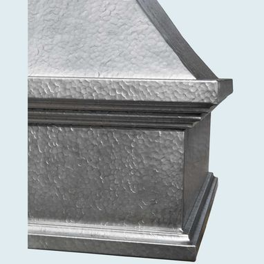 Custom Made Zinc Range Hood With French Mantle Band
