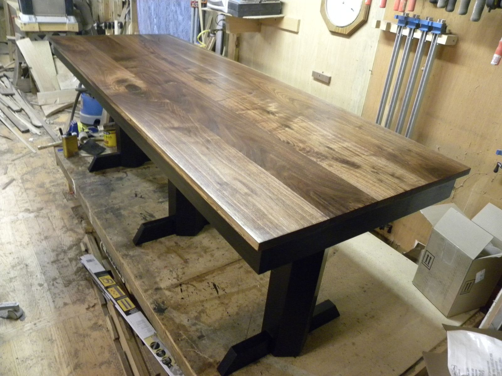 Kitchen Collection Store Hours Hand Made Black Walnut Table Desk By Design47 Custommade Com