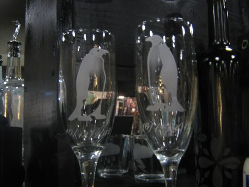 Custom Made Custom Etched Wine Glass