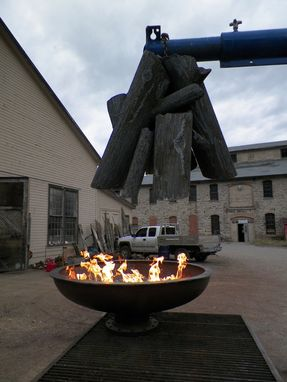 Custom Made Gas Fire Cauldron With Steel Logs