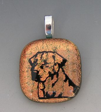 Custom Made Labrador Retriever Dog Dichroic Glass Pendant