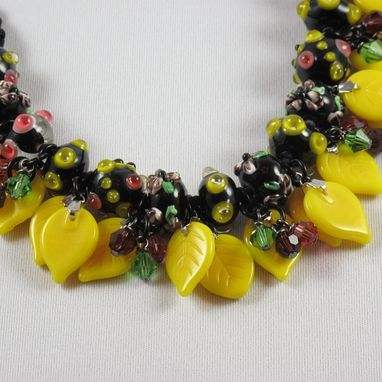 Custom Made Spring Flowers Necklace