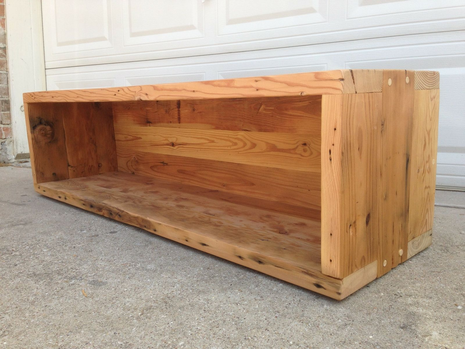 Hand Made Reclaimed Storage Bench By Callum East Design