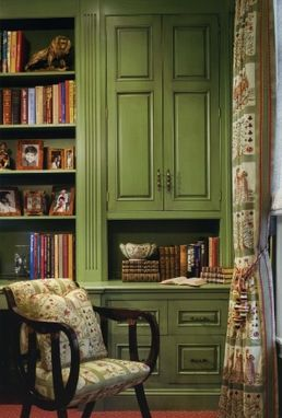 Custom Made Built-In Home Office Cabinets And Adjustable Bookshelves