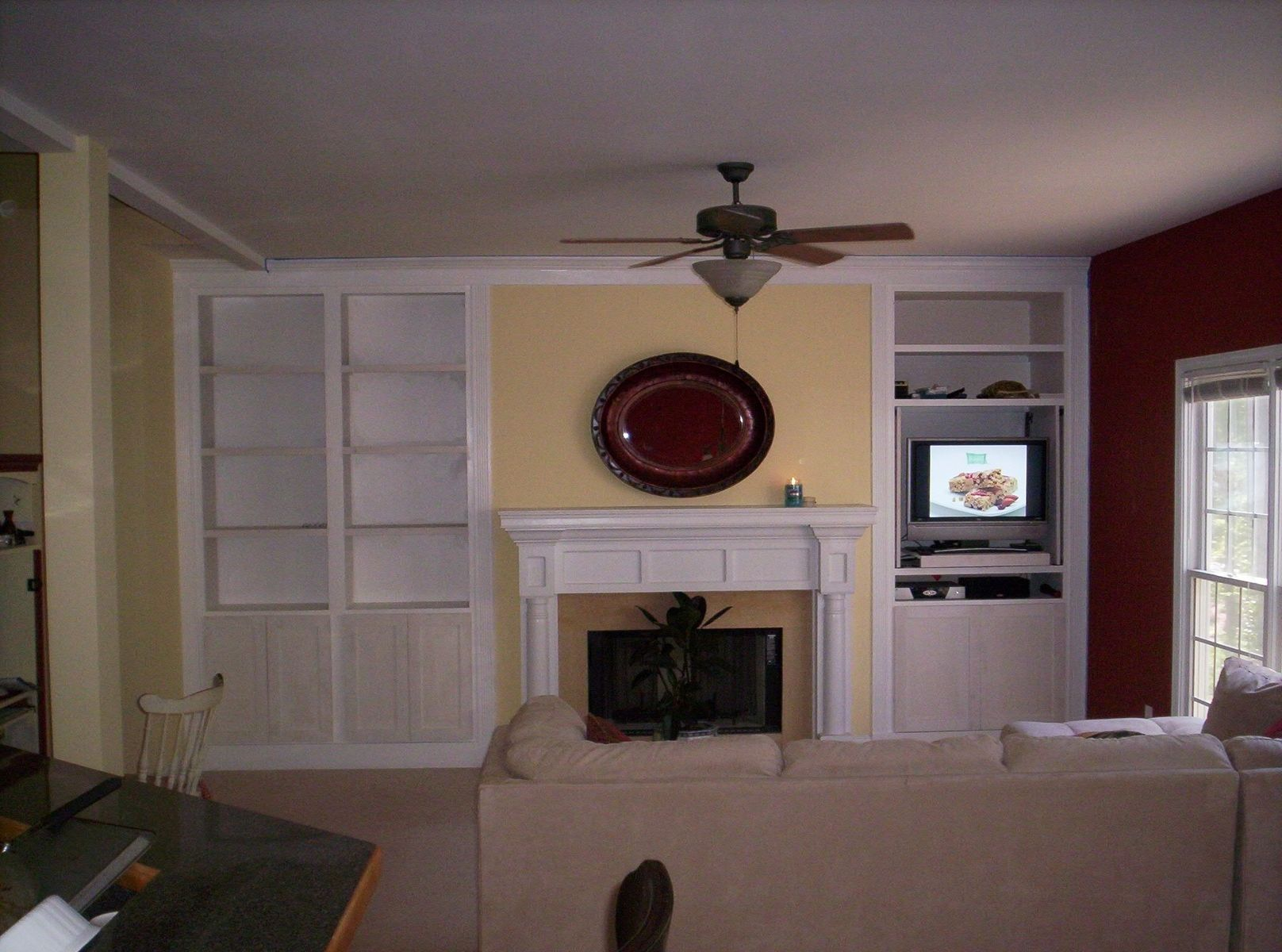 custom made living room built ins built living room