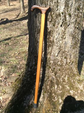 Custom Made Exotic Zebrawood And Jatobawood Walking Cane