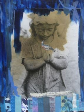 Custom Made Angel In Bluess Notecard Set
