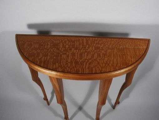 Custom Made Lacewood & Mahogany Entry Table