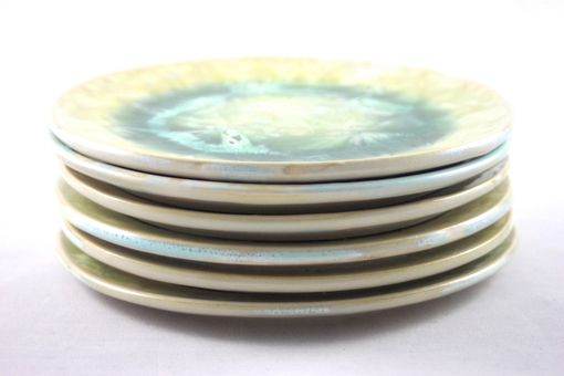 Custom Made Rutile Crystalline Dessert Plates (Set Of 6)