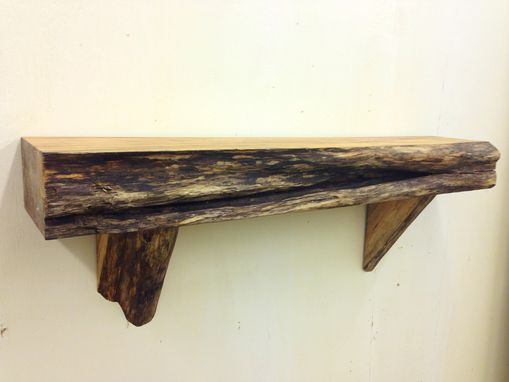 Custom Made Fireplace Mantels With A Live Edge