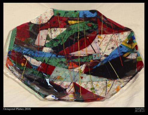 Custom Made Fused Glass Serving Platter