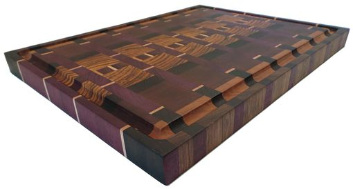 Custom Made Exotic Wood, End Grain Cutting Board