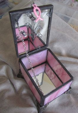Custom Made Breast Cancer Awareness Jewelry Box
