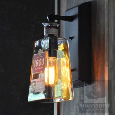 Custom Made 1800 Tequila Bottle Wall Sconce