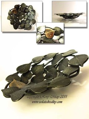 Custom Made Forged Aspen Leaf Bowl
