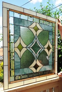 Custom Made Conservative Neutrals- Stained Glass Window(W-54)