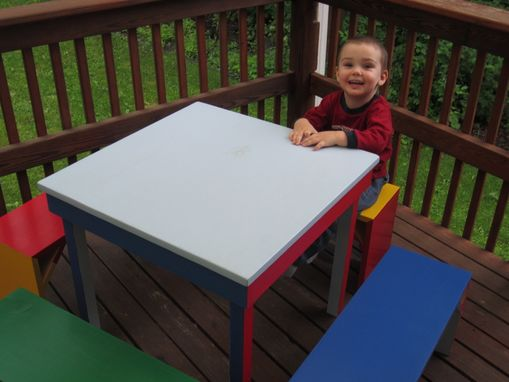 Custom Made Table And Benches Toy Box
