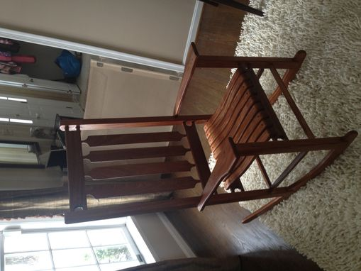 Custom Made Class Rocking Chair Shown In Mahogany